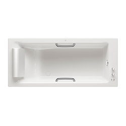 BATHS | Built-in bathtub 1800 x 800 mm with deck mounted thermostatic faucet | Glossy White | Bathtubs | Armani Roca