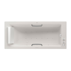 BATHS | Built-in bathtub 1800 x 800 mm with Soft-Air massage | Off White | Bathtubs | Armani Roca