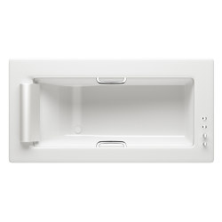 BATHS | Built-in bathtub 2145 x 1100 mm with deck mounted thermostatic faucet | Glossy White | Bathtubs | Armani Roca