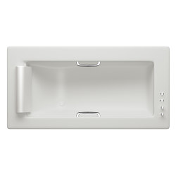 BATHS | Built-in bathtub 2145 x 1100 mm with deck mounted thermostatic faucet | Off White | Bathtubs | Armani Roca