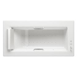 BATHS | Built-in bathtub 2145 x 1100 mm with Soft-Air massage | Glossy White | Bathtubs | Armani Roca