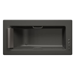 BATHS | Built-in bathtub 2145 x 1100 mm with Soft-Air massage | Nero | Bathtubs | Armani Roca
