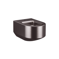 BIDET | Wall-hung bidet for 1-hole bidet mixer | Dark Metallic | Bidets | Armani Roca