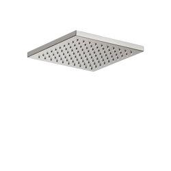 FAUCETS | Rain shower head 197 x 197 mm | Brushed Steel | Shower controls | Armani Roca