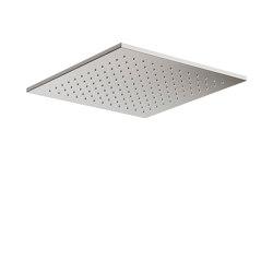 FAUCETS | Rain shower head 450 x 450 mm | Brushed Steel | Shower controls | Armani Roca