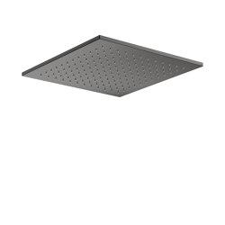 FAUCETS | Rain shower head 450 x 450 mm | Nero | Shower controls | Armani Roca