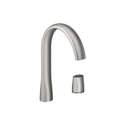 FAUCETS | Single side lever washbasin faucet mixer | Brushed Steel | Wash basin taps | Armani Roca