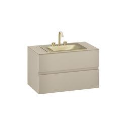 FURNITURE   1000 mm wall-hung furniture for countertop washbasin and deck-mounted basin mixer   Greige   Vanity units   Armani Roca