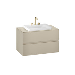 FURNITURE | 1000 mm wall-hung furniture for over countertop washbasins and deck-mounted basin mixers | Greige | Vanity units | Armani Roca