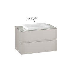 FURNITURE | 1000 mm wall-hung furniture for over countertop washbasins and wall-mounted basin mixers | Silver | Vanity units | Armani Roca
