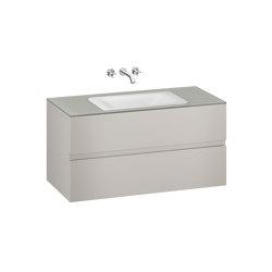 FURNITURE | 1200 mm wall-hung furniture for  countertop washbasin and wall-mounted basin mixer | Silver | Vanity units | Armani Roca