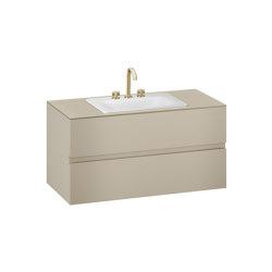 FURNITURE   1200 mm wall-hung furniture for countertop washbasin and deck-mounted basin mixer   Greige   Vanity units   Armani Roca