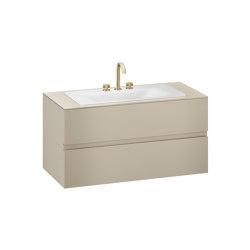 FURNITURE | 1200 mm wall-hung furniture for countertop washbasin and deck-mounted basin mixer | Greige | Vanity units | Armani Roca