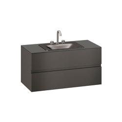 FURNITURE   1200 mm wall-hung furniture for countertop washbasin and deck-mounted basin mixer   Nero   Vanity units   Armani Roca