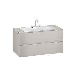 FURNITURE | 1200 mm wall-hung furniture for countertop washbasin and deck-mounted basin mixer | Silver | Vanity units | Armani Roca