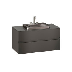 FURNITURE   1200 mm wall-hung furniture for over countertop washbasins and deck-mounted basin mixers   Nero   Vanity units   Armani Roca
