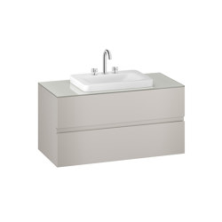 FURNITURE   1200 mm wall-hung furniture for over countertop washbasins and deck-mounted basin mixers   Silver   Vanity units   Armani Roca
