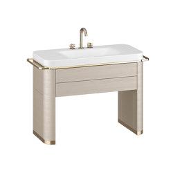 FURNITURE | Vanity unit with washbasin  | Greige | Wash basins | Armani Roca