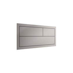 INSTALLATION SYSTEMS | Built-in 3/6L dual capacitative operating flush for Pro-Sysem support 550 mm | Silver | Flushes | Armani Roca