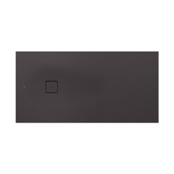 SHOWER TRAYS | L superslim shower tray with with side waste | Dark Metallic | Shower trays | Armani Roca