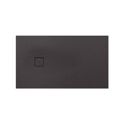 SHOWER TRAYS | S superslim shower tray  with side waste | Dark Metallic | Shower trays | Armani Roca