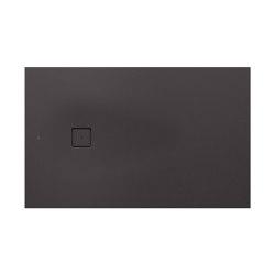 SHOWER TRAYS | XL superslim shower tray with side waste | Dark Metallic | Shower trays | Armani Roca