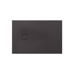SHOWER TRAYS | Plato de ducha extraplano XS con desagüe lateral Dark Metallic | Platos de ducha | Armani Roca