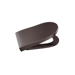 TOILETS | Soft-closing Supralit® lacquered seat and cover for wall-hung WC | Dark Metallic | WC | Armani Roca