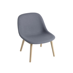 Fiber Lounge Chair | Wood Base | Textile | Armchairs | Muuto