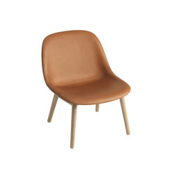 Fiber Lounge Chair | Wood Base | Leather | Armchairs | Muuto