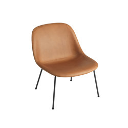 Fiber Lounge Chair | Tube Base | Leather | Armchairs | Muuto