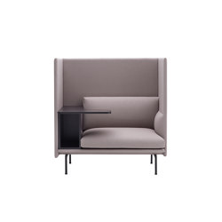 Outline Highback Work | Left | Armchairs | Muuto