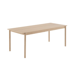 "Linear Wood Table | 200 x 90 cm / 78.7 x 33.5"" | Dining tables | Muuto"