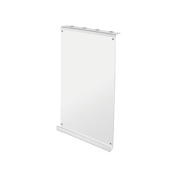 Writing panel, made of transparent acrylic with a white writing surface | Flip charts / Writing boards | Sigel