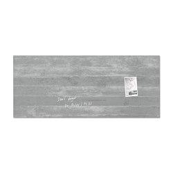 Tableau magnétique en verre Artverum, 130 x 55 cm | Chevalets de conférence / tableaux | Sigel