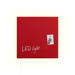 Magnetic Glass Board Artverum LED light, 48 x 48 cm | Wall lights | Sigel