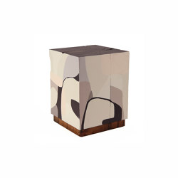 Etherealist Hand Painted Cube | Tables d'appoint | Pfeifer Studio