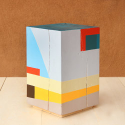 Geo Color Painted Cube Table | Tavolini alti | Pfeifer Studio