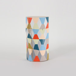 Harlequin Modern Hand Painted Log Table | Side tables | Pfeifer Studio