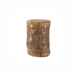 Kota Hand Carved Log Table | Tavolini alti | Pfeifer Studio