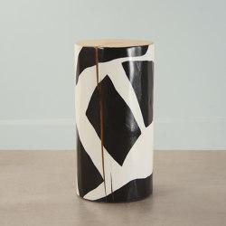 Orion Hand Painted Log Table | Mesas auxiliares | Pfeifer Studio