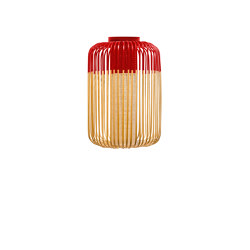 Bamboo | Ceiling Lamp | L Red | Ceiling lights | Forestier