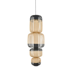 Bamboo | Pendant Lamp | L Black | Suspended lights | Forestier
