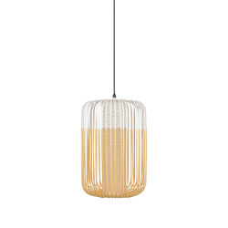 Bamboo | Pendant Lamp | L White | Outdoor | Lampade outdoor sospensione | Forestier