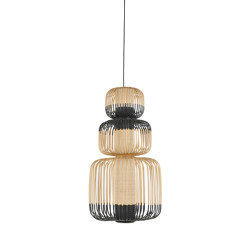 Bamboo | Pendant Lamp | M Black | Suspended lights | Forestier
