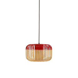 Bamboo | Pendant Lamp | S Red | Suspended lights | Forestier