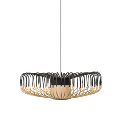 Bamboo Up   Pendant Lamp   Up XXL Black   Suspended lights   Forestier