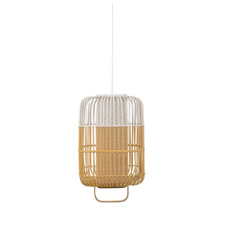 Bamboo-Square | Pendant Lamp | Square L White | Suspended lights | Forestier
