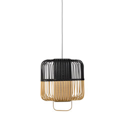 Bamboo-Square | Pendant Lamp | Square M Black | Suspended lights | Forestier