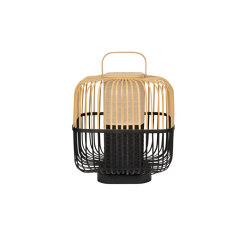 Bamboo-Square | Table Lamp |-Square M Black | Table lights | Forestier